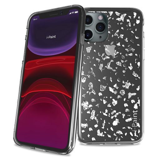 Cover Glitter Flakes per iPhone 11 Pro Max | Silver
